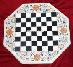 Stone Inlay Chess Table Top