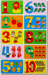 Count & Match Inset Puzzle