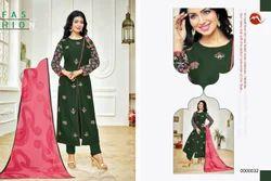Round Neck Moof Salwar Suit Fabric