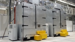 Curing Oven With Trolley And Rotation Systems
