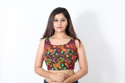 Embroidered Blouse Thread Work Blouse