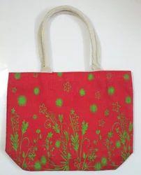 Leaves Printed Jute Promotional Bag