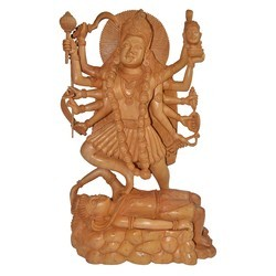 Wooden Kaali Maa Statue