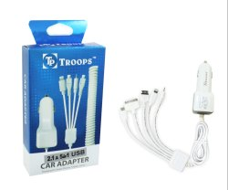 Troops Tp-387 2.1 Amp 5in1 Car Charger