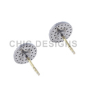 Diamond Silver Stud Earrings Jewelry