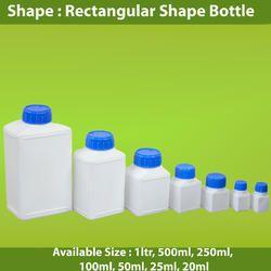 HDPE Rectangular Shape Bottles