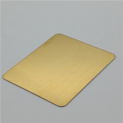 Stainless Steel Gold Hairline Sheets