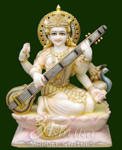 Marble Saraswati Statue Goddess Saraswati Statue