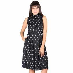 Printed Ladies Western Short Dress