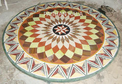 Round Marble Mosaic Table Top
