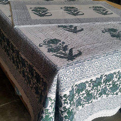 Hand Block Printed Kantha Bedcover With Pillow Cases