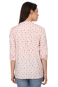 Bird Print Pink Ladies Shirt
