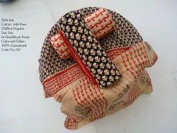 Bagru Printed Cotton With Pure Chiffon Dupatta suits