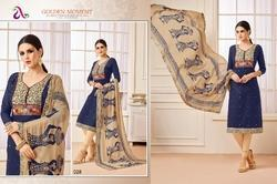 V Neck Madhushala Salwar Suit Fabric