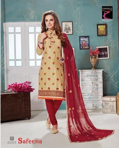 Ladies Cotton Fashion Wear Suit