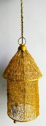 Brass Hut Lamp Hanging