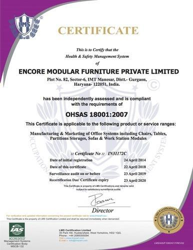 Encore Modular Furniture Private Limited - Manufacturer from