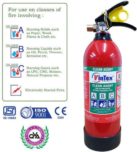 Clean Agent Gas Based Fire Extinguisher 2 Kg