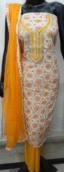 Aari Work Dress Material