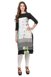 Binny Creation Art Crepe Kurti