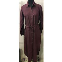 Casual Brown Ladies Robe