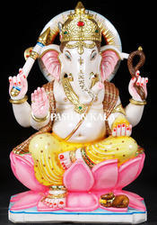Marble White Ganesha Statue