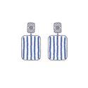 Pave Diamond Colour Beaded Earrings
