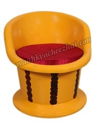 Designer Chair In Shiny Vibrant Yellow Colour