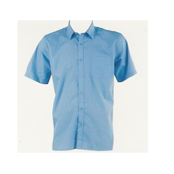 White And Blue Cotton School Boys Uniform Shirt
