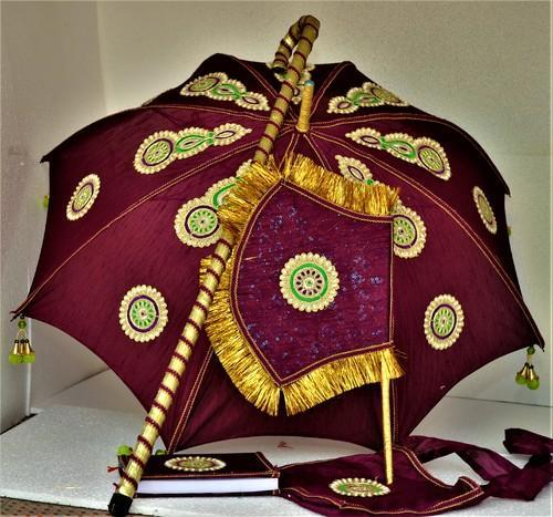 Kasi Yathra Decorated Wedding Umbrella Set Manufacturer From Chennai