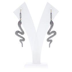Diamond Snake Hook Earrings