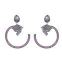 Designer Diamond Ruby Earrings