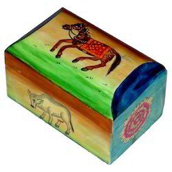 Wooden Painted Animal Box