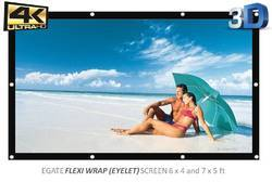 Egate Eyelet 1.8 meter X 1.2 meter  (6 X 4 Feet ) Projector Screen