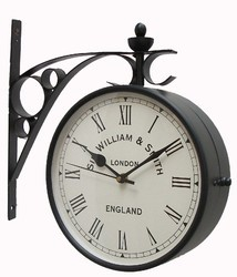 Double Sided Wall Clock Victoria In 8 Inch.