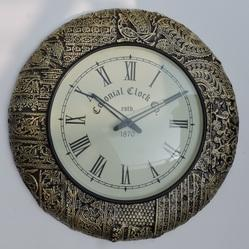 Decorative Brass Fitted Wall Clock