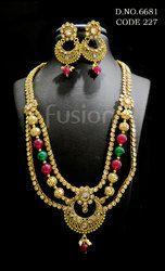 Polki Antique Necklace Set