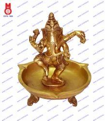 Oil Lamp Ganesh Dancing 3 Leg