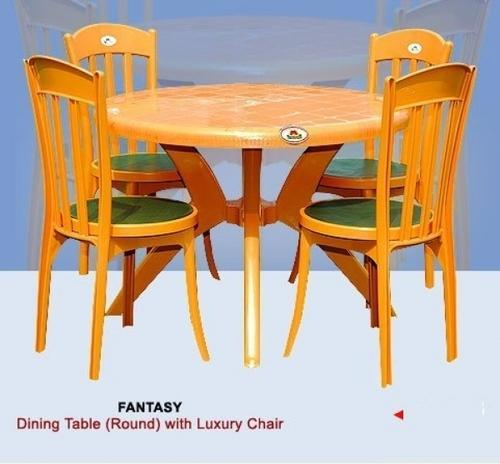 Plastic Dinner Table Home Design Ideas and Pictures : round dining table with luxury chair 500x500 from www.startbizquitjob.com size 500 x 464 jpeg 28kB