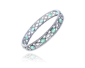 Pave Diamond Emerald Bangle