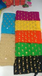 Net Embroidery with Moti Work