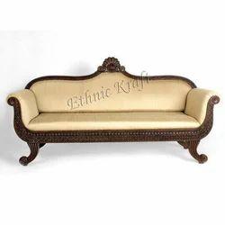 Wooden Three Seater Sofa