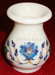 Small Marble Inlay Flower Vase