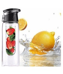 Black  Sipper Fruit Infuser Water Bottle