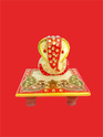 Colorful Marble Chowki Ganesh