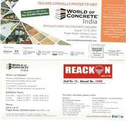 World of Concrete India - 2017 - New Delhi