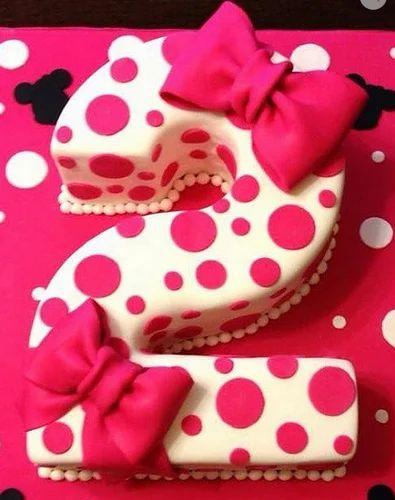 Alphanumeric Cakes Baby Girl Birthday Cake Retailer from New Delhi