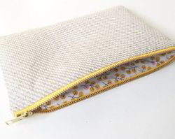 GOTS Certified Organic Cotton Made Cosmetics Pouch