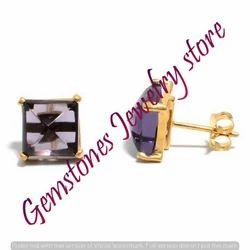 Amethyst Gemstone Ear Stud