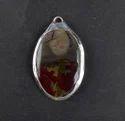 Blood stone Gemstone Oval Shape Silver Electroplated Pendant